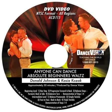 Anyone Can Dance Waltz - DVD