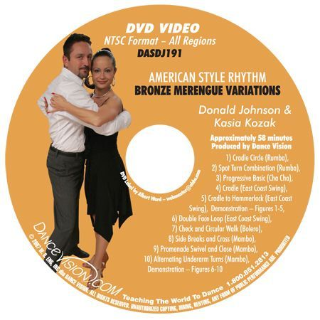 American Style Rhythm Bronze Merengue Variations - DVD