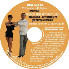 American Style Rhythm DVIDA Syllabus Beginning-Intermediate (Bronze) Merengue – DVD