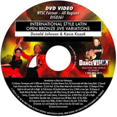 International Style Latin Open Bronze Jive Variations - DVD