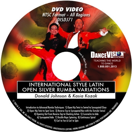 International Style Latin Open Bronze Rumba Variations - DVD