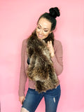 Faux Fur Pull-Through DIY Scarf Sewing Pattern