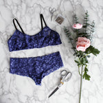 Beginner Lingerie Sewing Pattern . Printable Panties Pattern and Bralette Pattern