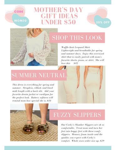 aMour Boutique - Mother's Day Gift Ideas Under $50