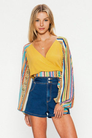 Striped Crop Top - Shop Amour Boutique