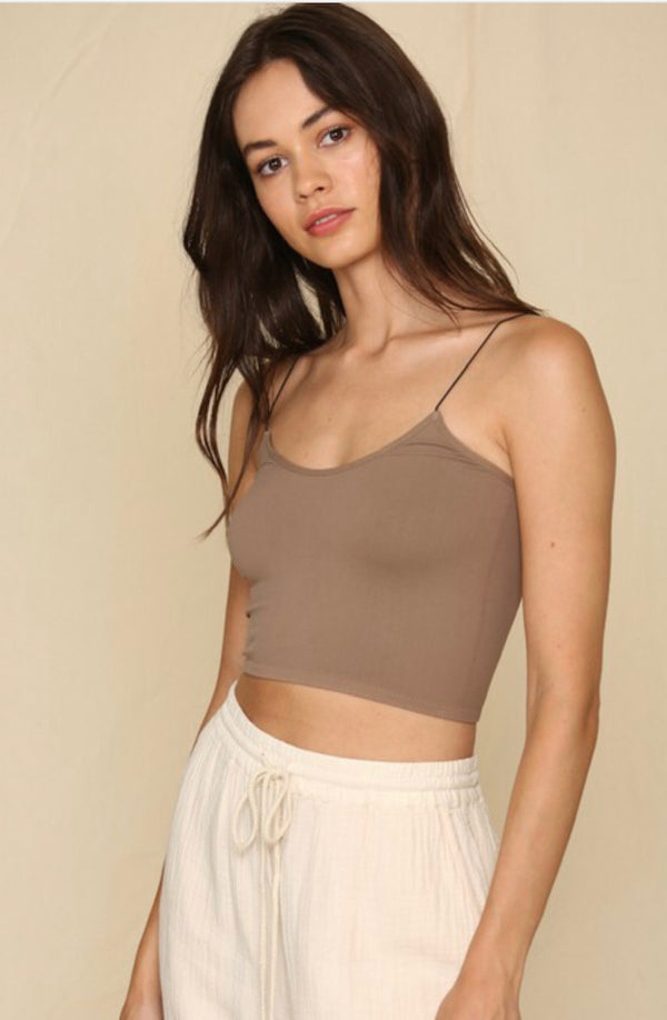 Bandeau Seamless Top - Mocha - Shop Amour Boutique