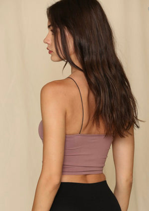 Bandeau Seamless Top - Dusty Lilac - Shop Amour Boutique