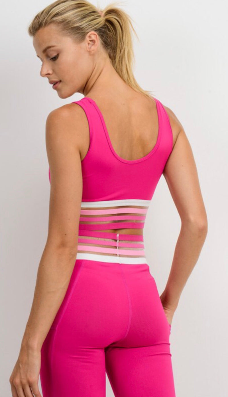 Pretty in Pink Sports Bra - Shop Amour Boutique