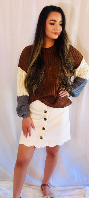 Corduroy Skirt - Shop Amour Boutique