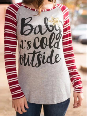 Baby It's Cold Outside T-Shirt - Shop Amour Boutique