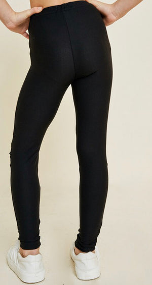 Grace and Lace Black Leggings - Shop Amour Boutique
