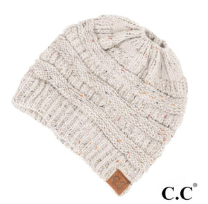 CC Bun Pony Beanie - Shop Amour Boutique