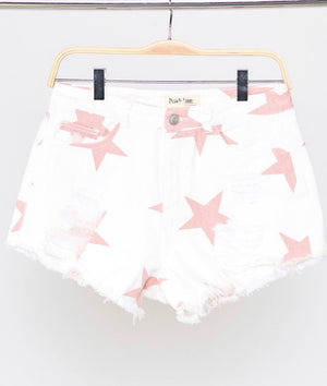 Make a Wish Star Denim Shorts - Shop Amour Boutique