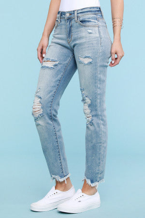 Beach Splash Fun Boyfriend Jeans - Shop Amour Boutique