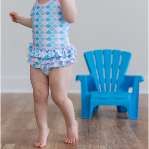 Toddler Girl Mermaid Swimsuit - Shop Amour Boutique