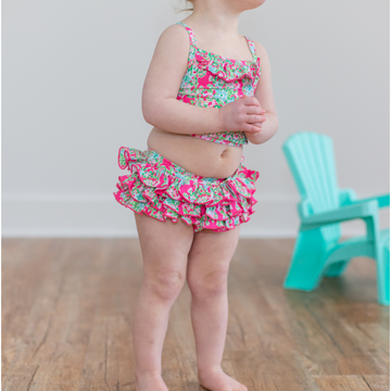 Girls Floral Swimsuit