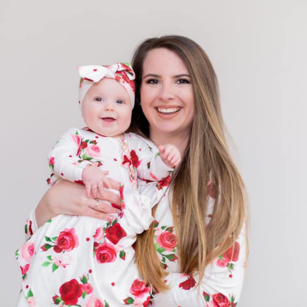 Rose Swaddle & Headband Set - Shop Amour Boutique