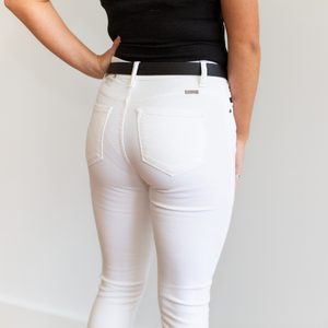 KanCan Why Not White Skinny High Rise Jeans - Shop Amour Boutique