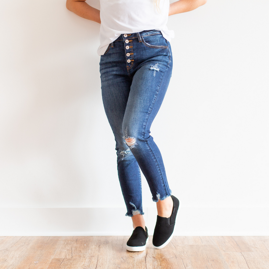 KanCan Classy & Sassy High Rise Classic Skinny Jeans - Shop Amour Boutique