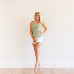 White Bermuda Shorts - Shop Amour Boutique