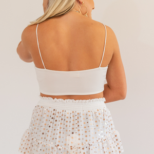 White Crop Tank Top - Shop Amour Boutique