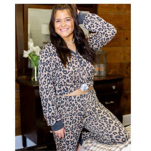 Cheetah Lounge Set - Brown - Shop Amour Boutique