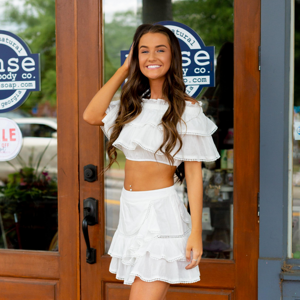 Meant To Be Two Piece Set White - Shop Amour Boutique