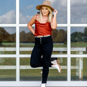 On The Fly Black Jeans - Shop Amour Boutique