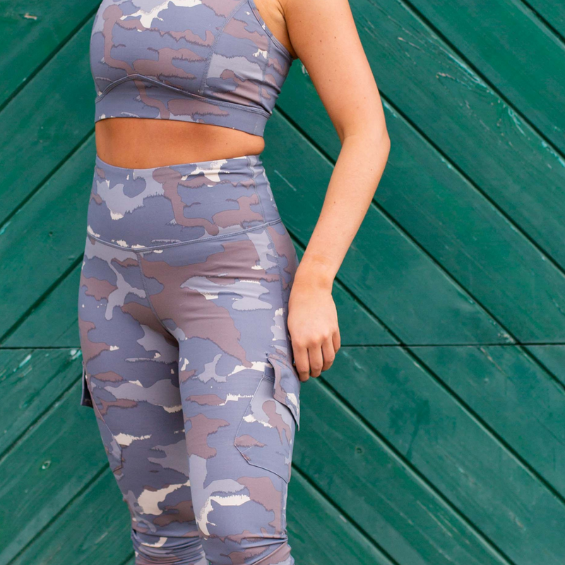 Blue Tundra Camo Leggings - Shop Amour Boutique