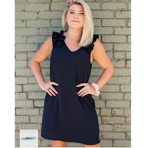 Perfect Black Game Day Dress - Shop Amour Boutique