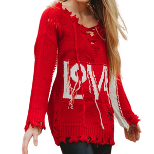 My Heart Sweater - Red