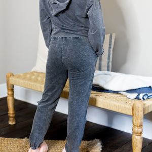 Mineral Washed Rhinestone Jogger Set - Shop Amour Boutique