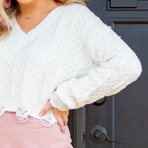 Pure and Simple White Sweater - Shop Amour Boutique