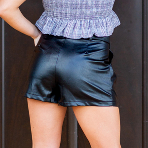 Black Vegan Leather Shorts - Shop Amour Boutique