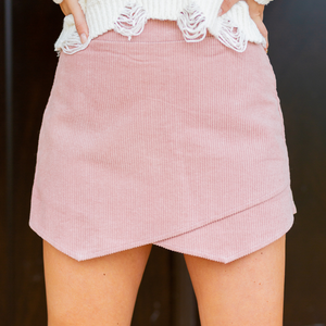 Dreaming of You Blush Corduroy Skort - Shop Amour Boutique