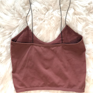 Bandeau Seamless Top - Dark Mauve - Shop Amour Boutique