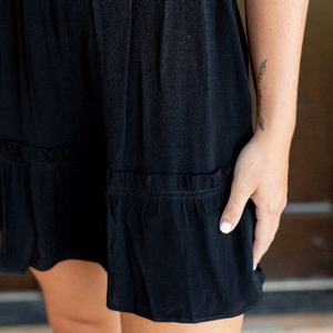 Black Ruffled Mini Skirt - Shop Amour Boutique