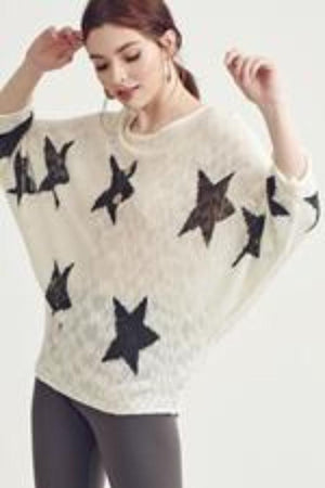 Counting Stars Ivory Sweater - Shop Amour Boutique