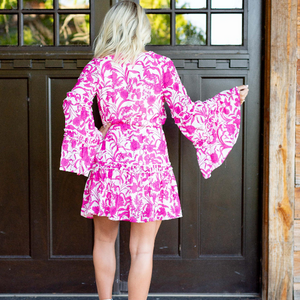 Floral Pink Dress - Shop Amour Boutique