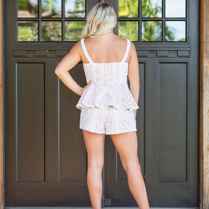 Lace Short Set - White - Shop Amour Boutique