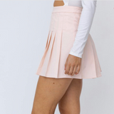 Pink Pleated Skirt - Shop Amour Boutique