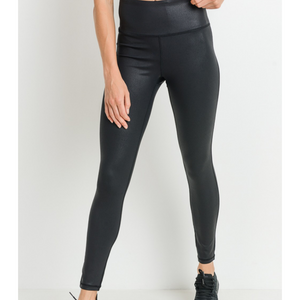 Black Foil Scale Leggings - Shop Amour Boutique