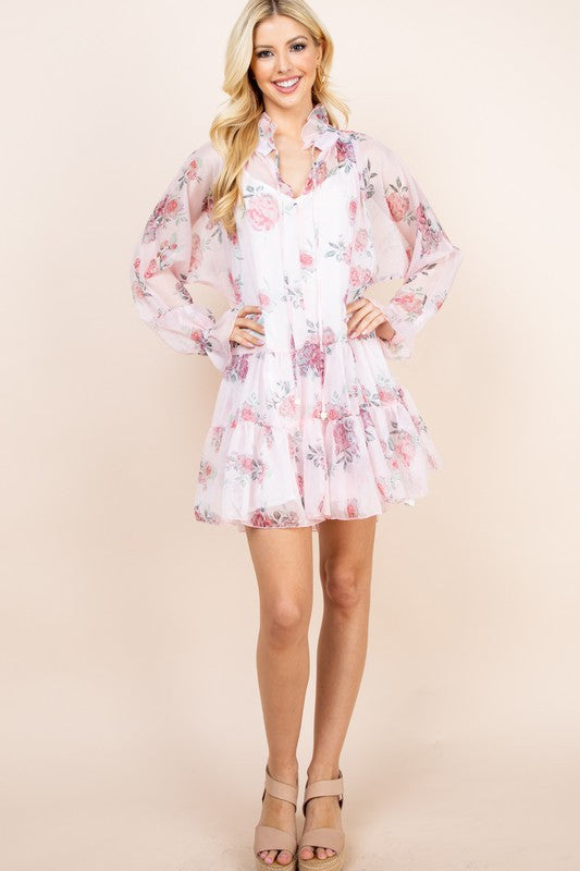 Floral Baby Doll Dress - Shop Amour Boutique