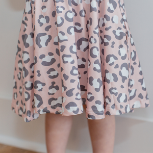 Girl Pink Leopard Dress - Shop Amour Boutique