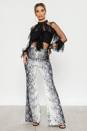 Snake Skin Pants - Shop Amour Boutique