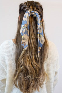 Floral Print Pony Scarf - Shop Amour Boutique
