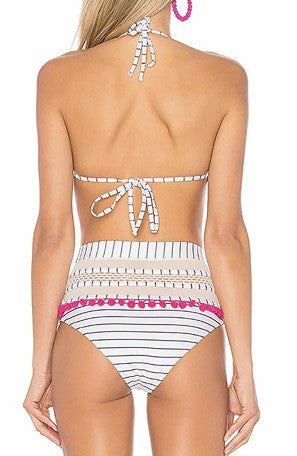 Women's High Wiasted Striped Bikini - Shop Amour Boutique