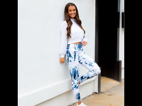 Blue Abstract  Leggings