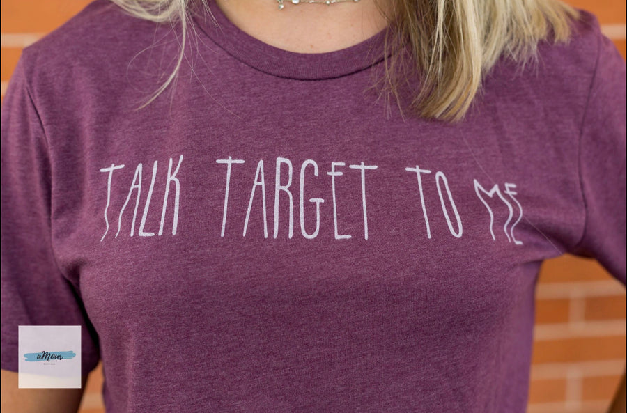 Talk Target To Me Graphic Tee - Shop Amour Boutique