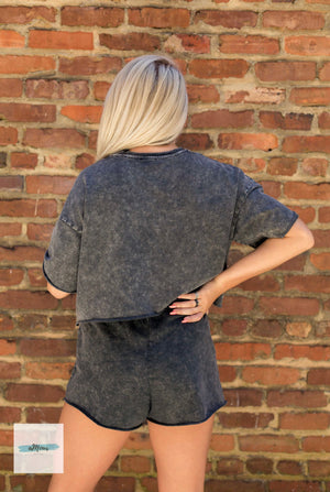 Loungewear Set - Mineral Washed - Shop Amour Boutique